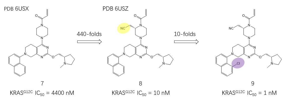 图8 KRAS抑制剂MTRX849优化过程中的两个关键步骤
