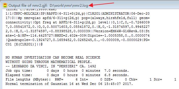 Gaussian教程 | 使用GaussView的作业管理器-墨灵格的博客