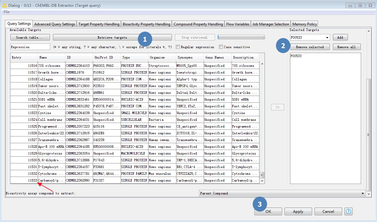 KNIME工作流 | 从ChEMBL数据库提取化合物-墨灵格的博客