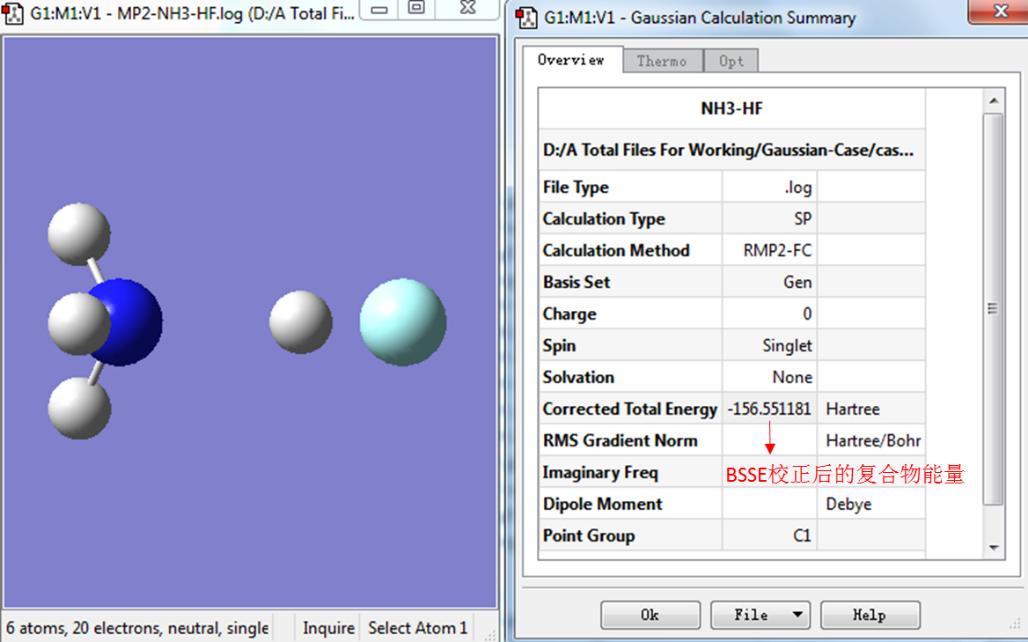 Gaussian教程 | 氢键与卤键的计算以及BSSE校正-墨灵格的博客