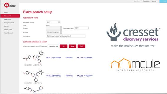Blaze虚拟筛选平台集成Mcule可购买化合物库,为外包项目提供更大的化学多样性-墨灵格的博客